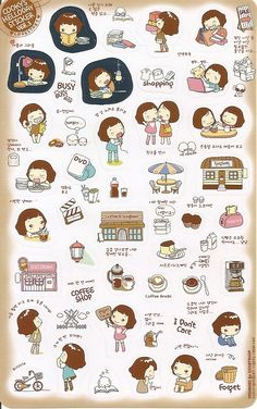 The Pink Thought Bubble by BabyJap: Korean Stickers : Just Because I Miss Being A Kid :)