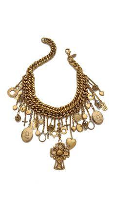 Erickson Beamon Chain Charm Necklace