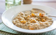Make a dairy-free risotto-style rice dish with the use of puréed cashews. By soaking overnight, the cashews soften and create a rich and creamy sauce that transforms frozen rice into a delicious meal. If you like fresh horseradish, grate some over the top just before serving for a punch of flavor. Dairy Free Risotto, Vegan Risotto, Vegan Foods, Vegan Dishes, Rice Dishes, Vegan Meals, Main Dishes, Fresh Horseradish, Sweet Potato Hummus