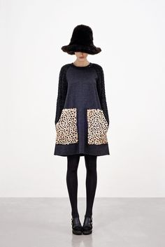 Hache -- Winter 2012 (oversized leopard pocket tent dress) I am so going to figure out a pattern to make dresses like this!!!