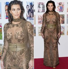 """Selbst Kim Kardashian wurde dem Gastgeber """"Vogue"""" bei der Gala nicht gerecht: Sie trug einen ganzkörpertransparenten Look von Roberto Cavalli, in dem wir sie gefühlt schon mindestens hundert Mal gesehen haben. (23. Mai 2016, Bilder: Getty Images)"""