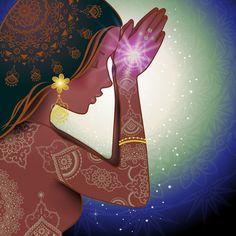 ♥ॐ Namaste ॐ♥ Meditation Art, Yoga Art, Namaste, Yoga Kunst, Art Visionnaire, Spirited Art, Visionary Art, Reiki, Fantasy Art