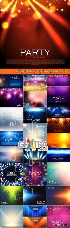Colorful light spotlight background vector 5