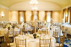 The Alexandria Ballroom Set For A Wedding Reception Dearborn Inn Marriott Http