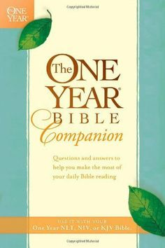 The One Year Bible Companion by Tyndale. $10.80. Publisher: Tyndale House Publishers, Inc. (August 31, 1992). 416 pages