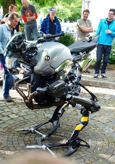 "BMW has produced a free-standing two-wheeler pic.twitter.com/Fts8Kki7L6 the ""Metal Gear"""