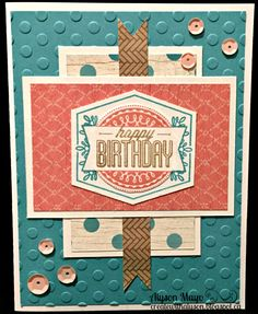 """Create with Alyson: August Stamp of the Month Blog Hop - """"Framed"""""""