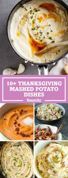 Make these mashed potato recipes for Thanksgiving dinner. Your guests will love these delicious twists on everyone's favorite Thanksgiving side dish. The Garlic-Parmesan browned butter mashed potatoes is the definition of comfort food and makes this recipe a must-have this holiday season!