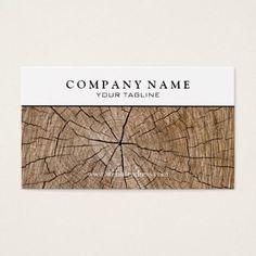 #name - #Wood Stump Business Card