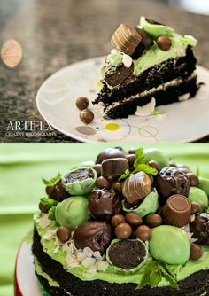 Dark Chocolate espresso and mint Cake