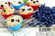 Blueberry oatmeal muffins #liltlechanges