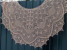 Ravelry: Autumn Adagio Shawl pattern by Anna Victoria Lace Knitting Patterns, Shawl Patterns, Knitting Charts, Lace Patterns, Knitting Stitches, Knitting Designs, Knit Or Crochet, Crochet Shawl, Ravelry