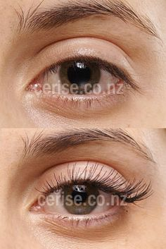 eyelash extentions before and after