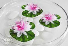 Papierblumen Seerosen mit Video-Tutorial