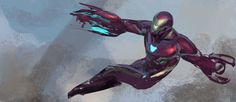ArtStation - Avengers: Infinity War - Iron Man on Titan Keyframe, Phil Saunders Marvel Dc Movies, Marvel Comics, Marvel Heroes, Marvel Avengers, Iron Man Suit, Iron Man Armor, Iron Man 3, Comic Book Villains, Superhero Villains