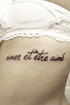 to love and be loved - this is the tattoo I want!!!!!!!!!!!!!