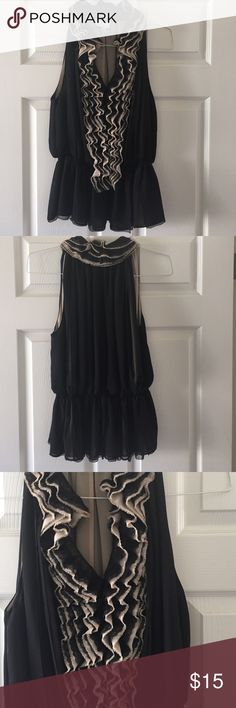 Neiman Marcus for Target** top Lacy top. Dress up or down. Elastic waistband. Black and beige. Washable neiman marcus for target Tops Blouses