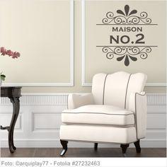 Möbeltattoo Maison No.2 mit Ornament Shabby 02