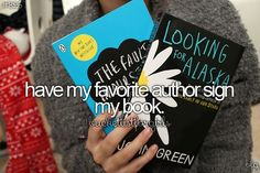 Have my favorite author sign my book