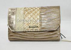 NWT Brahmin Helena Small Tri-Fold Wallet in Latte Buena Vista. Multi-Textured #Brahmin #MiniWallet