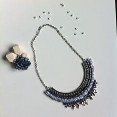 «Un peu de douceur #handmade #bijoux #collier #faitmain #diy #mondiyamoi j'ai adoré faire ce collier il me tarde de le porter !!!…»