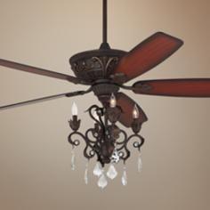 """60"""" Casa Montego® Bronze Chandelier Ceiling Fan"""