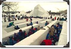 Ice maze, Jacques Cartier Park, Hull, Quebec (QC) Photo - what fun, love the mountain in the background