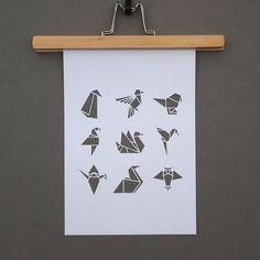 origami bird papercut - Google zoeken