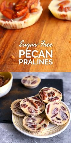 These are the best keto pecan pralines! Extremely easy to make with very few ing… These are the best keto pecan pralines! Extremely easy to make with very few ingredients. Each piece is LESS THAN ONE NET CARB, definitely a must try keto candy! Low Carb Candy, Keto Candy, Low Carb Sweets, Sugar Candy, Desserts Keto, Keto Dessert Easy, Keto Snacks, Keto Cookies, Biscoff Cookies
