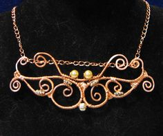 Lovely Copper Butterfly Wire Wrapped Necklace by craftybabyhope, via Flickr