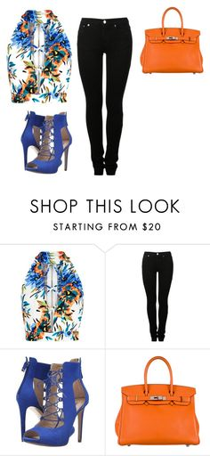 """""""Untitled #56"""" by madelyn-anderson-1 on Polyvore featuring New Look, MM6 Maison Margiela, GUESS and Hermès"""