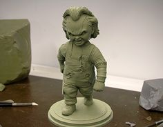 """Check out new work on my @Behance portfolio: """"CHUCKY (Sculpture for 3d printing)"""" http://be.net/gallery/58032873/CHUCKY-(Sculpture-for-3d-printing)"""