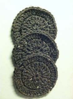 Ridged Coaster pattern by KarenJ Crochets Double Crochet, Crochet Stitches, Ravelry, Coasters, Winter Hats, Concept, Pattern, Fun, Coaster