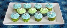 Monsters University Monsters Inc Party Ideas Monster cupcakes sponsored by Juicy Juice. Win a party pack!