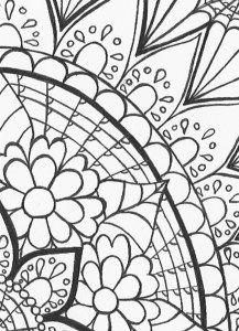 Mehndi Sunrise Mini Coloring Page