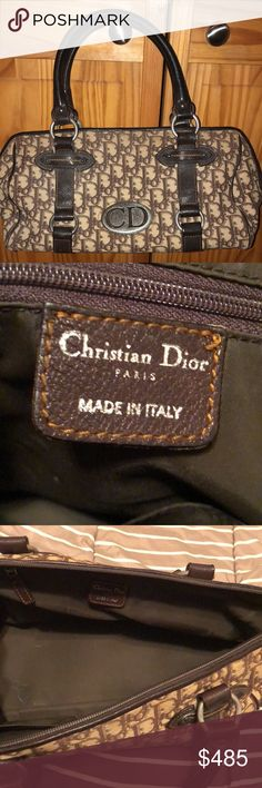 Christian Dior barrel bag Lightly used brown monogram Christian Dior barrel bag Christian Dior Bags Satchels