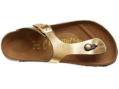 Birkenstock Gizeh by Papillio Metallic Gold Leather -