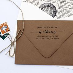Address Stamp Script - Custom Self Inking Return Address Stamp - Housewarming Wedding Gift by MJsArtStamps on Etsy https://www.etsy.com/listing/184919959/address-stamp-script-custom-self-inking