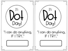 Dot Day Activity Booklet by Sarah Cooley Library Activities, Kindergarten Activities, Writing Activities, Teaching Resources, Introduction To Fractions, The Dot Book, International Dot Day, Classroom Birthday, Teacher Boards