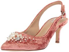5074cb2fe79c The Fix Women s Felicia Slingback Kitten Heel Pump with Pearls