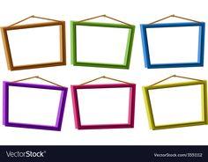 Photo frames vector image on VectorStock School Board Decoration, Binder Cover Templates, Box Frame Art, Powerpoint Slide Designs, Banner Design Inspiration, Powerpoint Background Design, Kids Background, Invitation Background, Kids Art Class