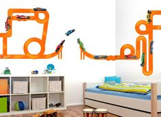 Build A Hot Wheels Track In Any Way You Like With This Awesome Wall Decal  Set Part 52
