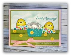 Easter Blessings using Honeycomb Happiness and Easter Lamb ... click for the video to see a neat trick to make your own sentiments #stampinup #stampalatte #videotip #saleabration #freshlybrewedprojects #lattegirls