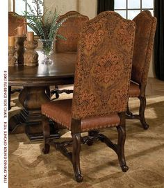 old world dining room chair
