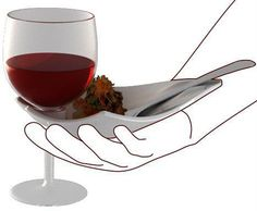 This would solve a lot of problems at business networking events. Holding a glass of wine AND a food plate? No problem...you can still shake hands...if you have this product.    #design #product #convenience
