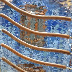 Casa Batilo, Barcelona. A Gaudi masterpiece.  | #warm #cool #blue #beige #brown #orange #gold