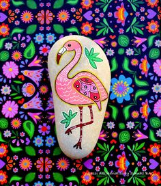 Easy rock painting ideas for fun childern kids art Rock Painting Patterns, Rock Painting Ideas Easy, Rock Painting Designs, Painting For Kids, Pebble Painting, Pebble Art, Stone Painting, Shell Painting, Flamingo Craft