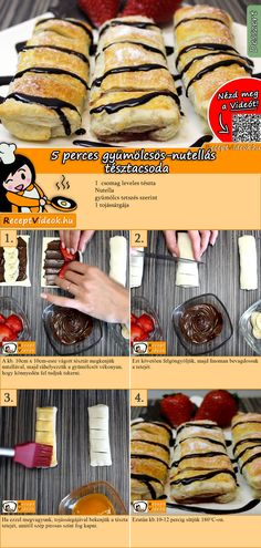 5 Minuten Früchte-Nutella-Wundergebäck Rezept mit Video The Effective Pictures We Offer You About Italian Recipes cake A quality picture can tell you many things. You can find the most beautiful pictu Donut Recipes, Pastry Recipes, Cake Recipes, Dessert Recipes, Dessert Blog, Nutella Spread, Italian Recipes, Food Videos, Food Porn