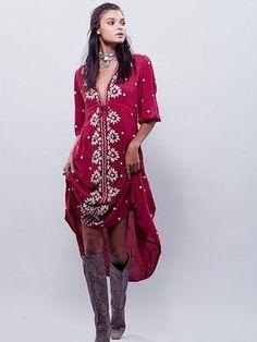 Dresses. Wine DressMaxi Dress With SleevesFashion BrandBoho FashionSpring  FashionClothing AccessoriesWomen s ClothingEmbroidered ... b6268fd0c635