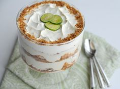 Key Lime Trifle  If you love a tangy Key lime pie, this creamy and crunchy trifle will hit the spot!